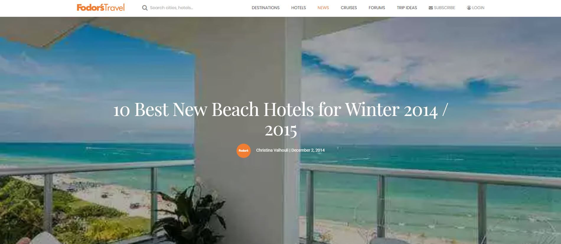 9. Fodors (Best Beach hotels 2014-2015).JPG