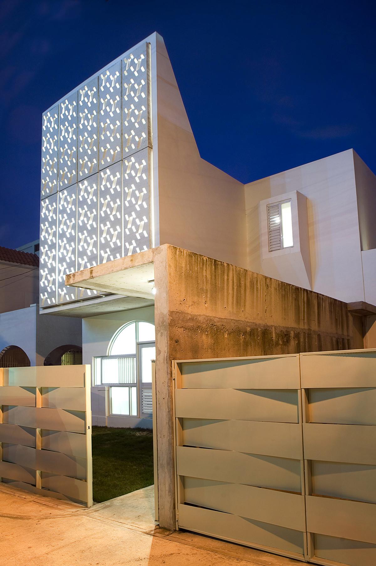Casa Delpin House facade night entrance Miramar Puerto Rico-1.jpg