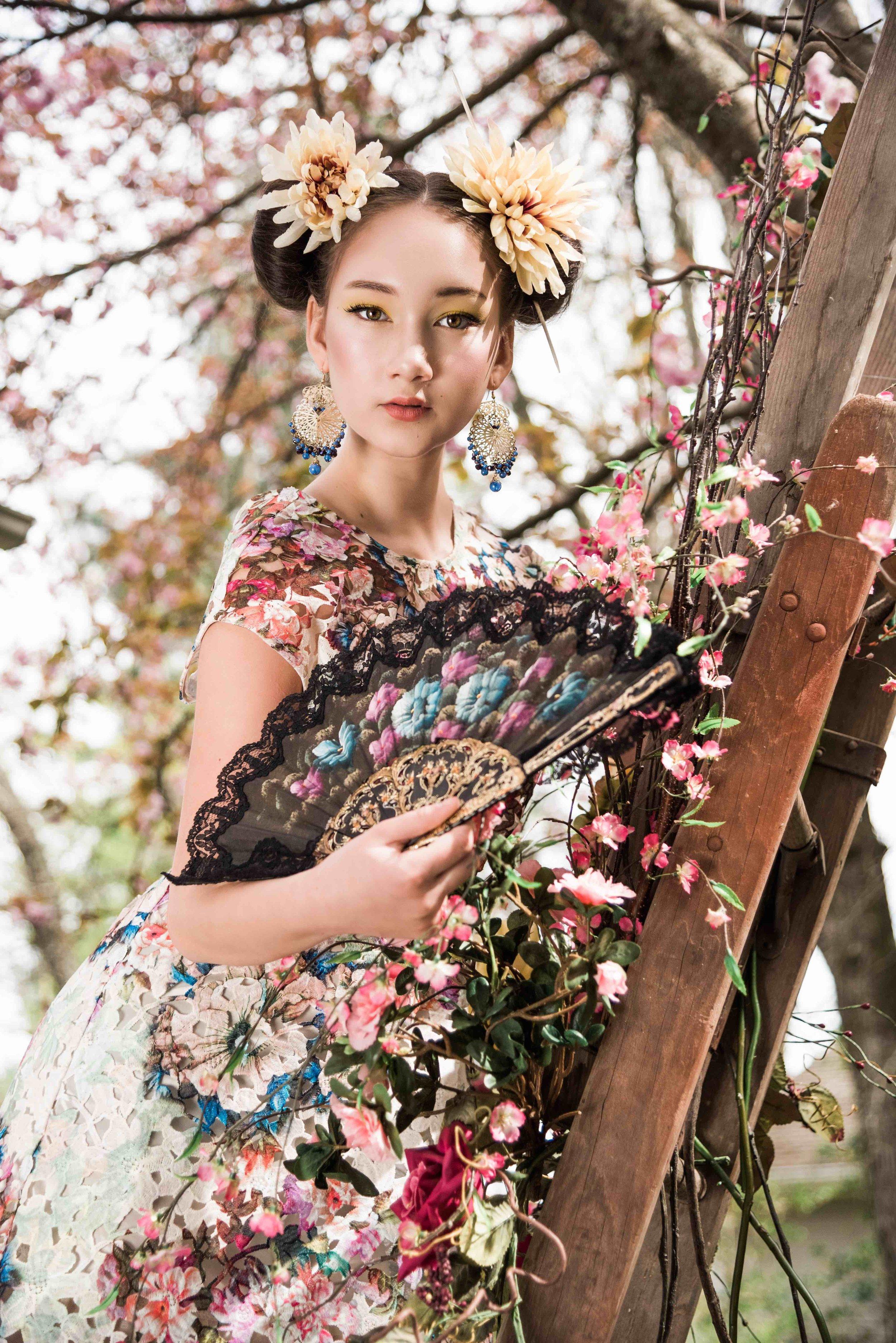 AK Floral Collection - Angela Kim Designs-Asheville N.C. (Model-Aislin Freya Pax)