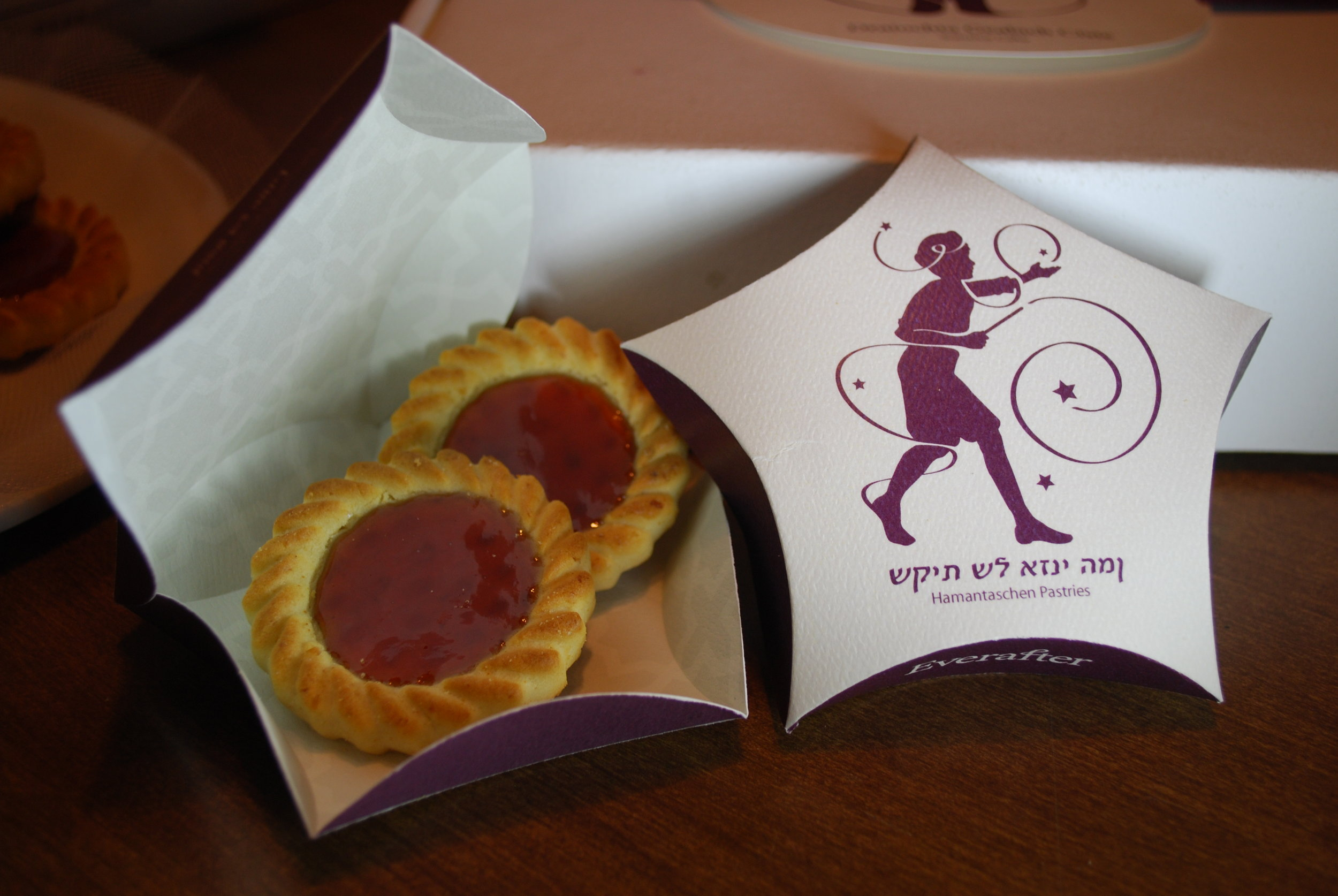 The Sorcerer's Apprentice Hamantaschen Pastries and their 5-pointed start puff-box.