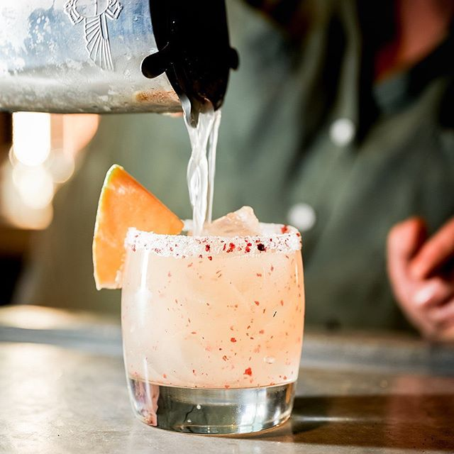 This Cantaloupe Margarita--it probably pairs well with a nice brunch on the patio but idk, we trust your judgement. 🍹 10 days.  #whatsGoodburlington #423andMe  IG: @goodburlington