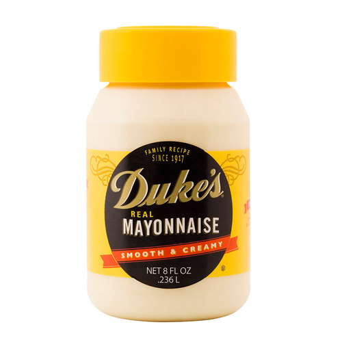Duke's Mayonnaise - Duke's Mayonnaise, which, like the label says, is the secret to great food! I am never, ever without Duke's. I try to purchase it when it goes on the buy one-get one sale at the supermarket. It goes into my chicken salad, my potato salad, my egg salad, and a dollop goes into my homemade pimento cheese. It's the secret weapon in hot chicken salad, chicken divan, and tomato pie.