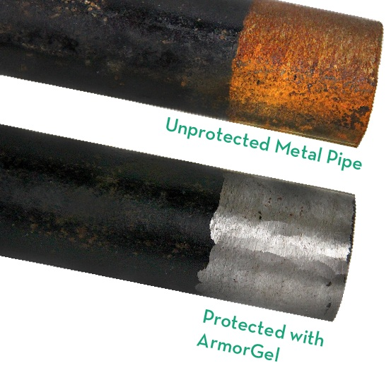 PIPE COATING WITH OUTSTANDINGPROTECTIVE CAPABILITIES - ArmorGel bonds with metal surfaces.