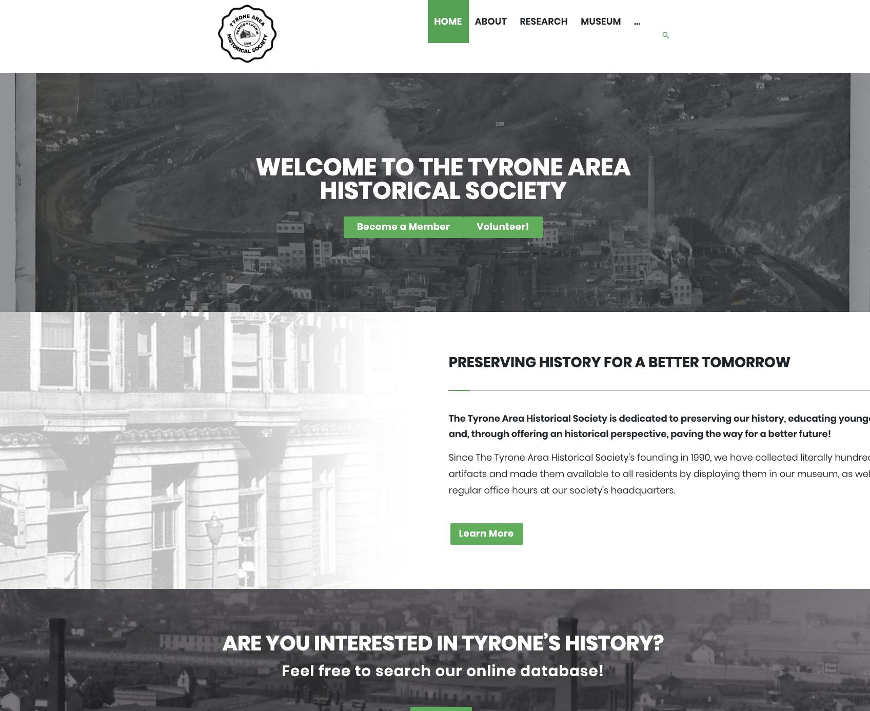 Tyrone Area Historical Society -