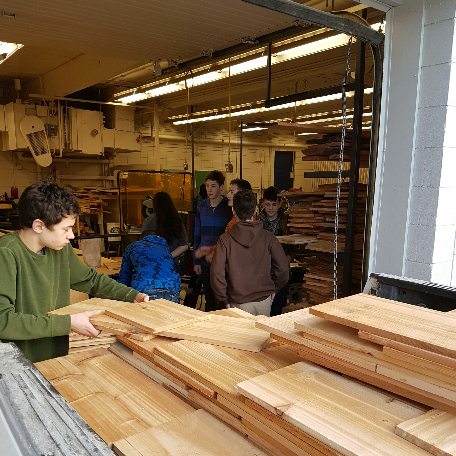 Donating Lumber:Supporting Trades Education and Local Initiatives - GSFP donates cedar lumber to a number of local causes