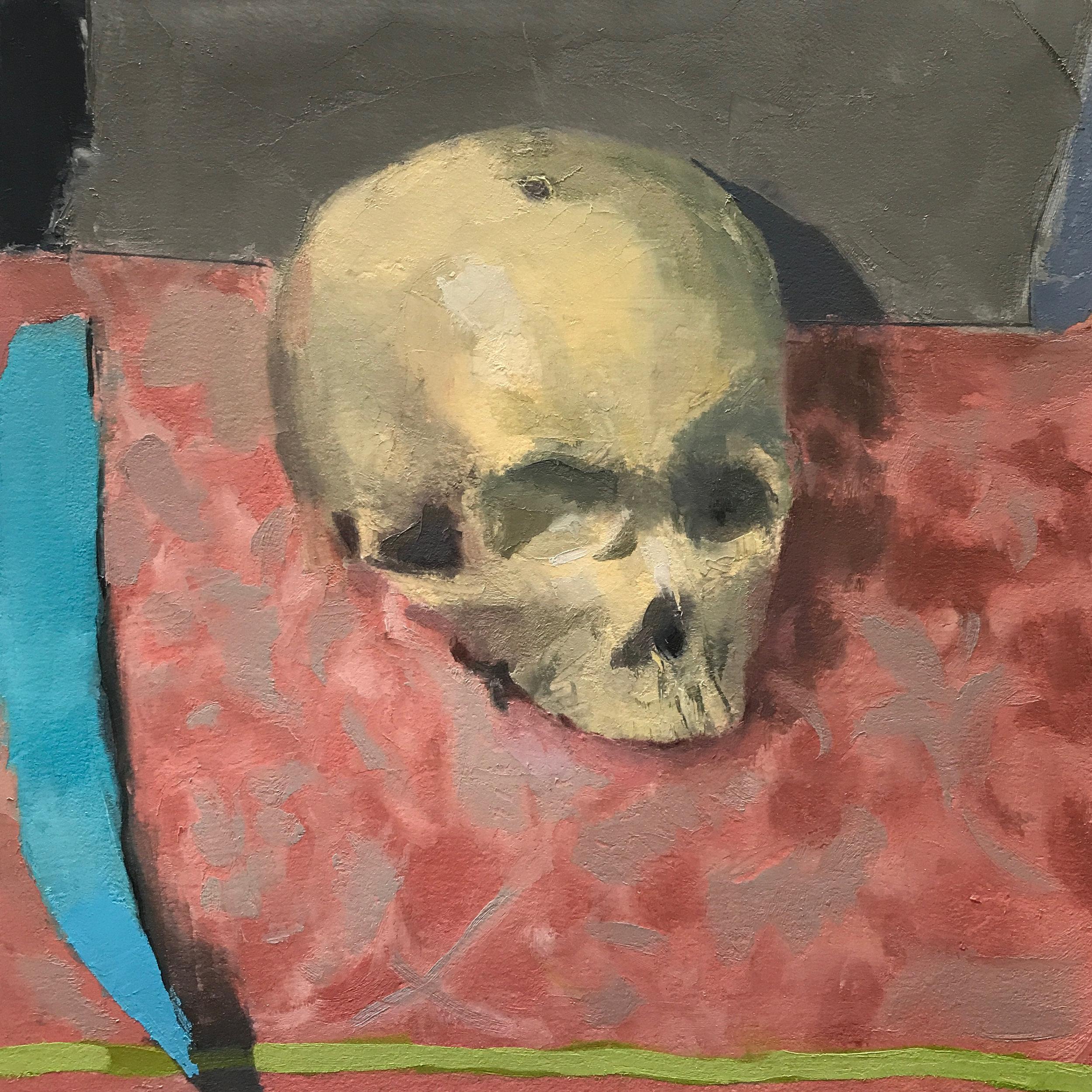 Skull on Tea Towel (alla prima)