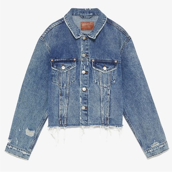 Zara Raw Edge Denim Jacket - When I bought this jacket I didn't realize I would love or wear it this much! If you're looking for a fun denim jacket to throw on with everything get this ripped Zara jacket. It's a great price and super comfy. It runs a little big so size down. I have an XS.