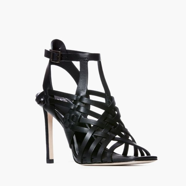 Paige Verso Strappy Cage Sandal - Okay not only are these shoes sexy and stylish, but they are so comfortable it's crazy. I was apprehensive in getting them because I thought they were pricey, but I have to say they are worth every penny. It's rare to find the perfect heel height, sexy style all while being comfortable. Usually you find the perfect heel and your feet are broken half way through the night. It's the worst. No dogs will be barking in these heels!