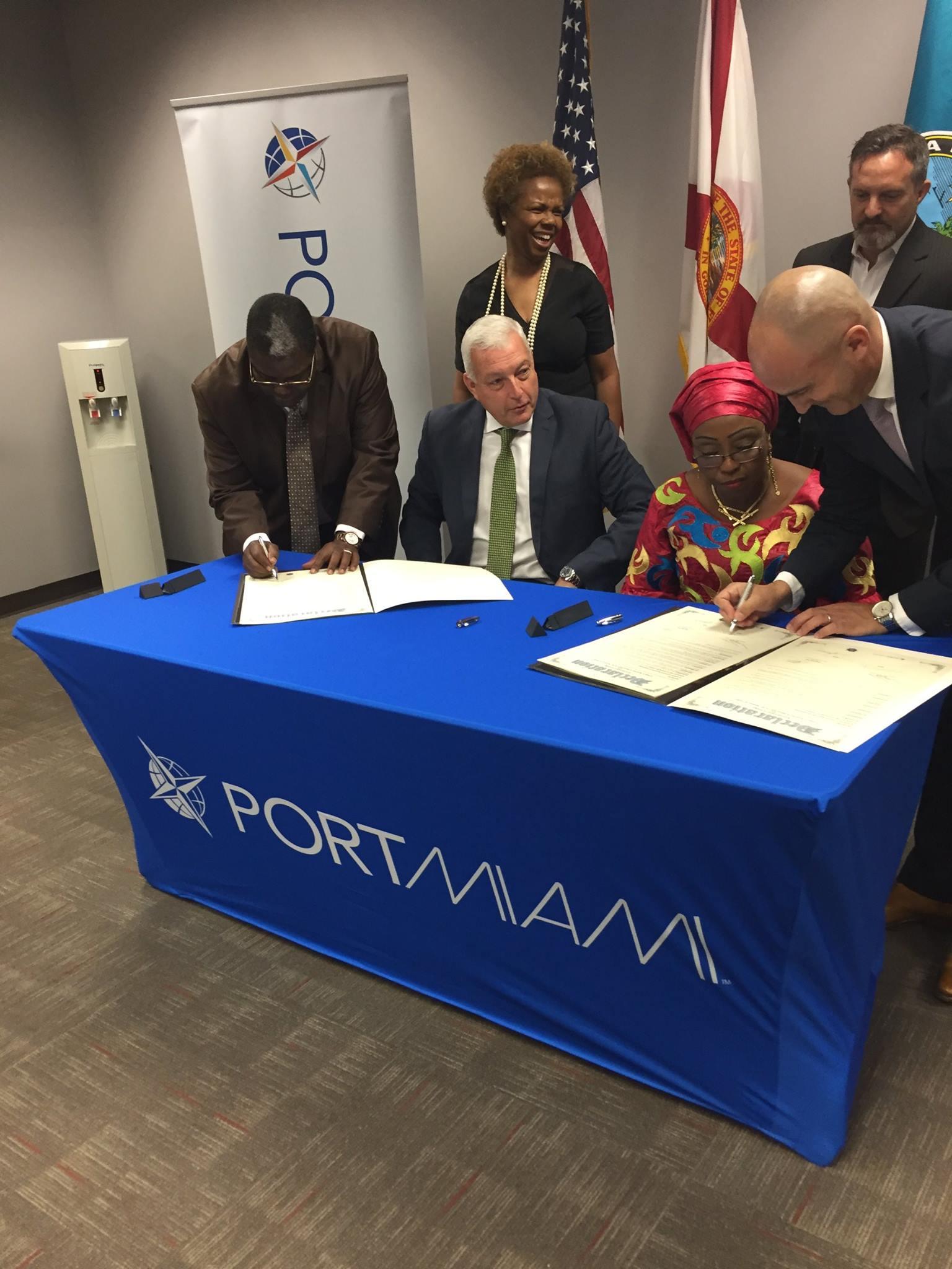 - Jumelage entre le Port de Miami et le Port de ConakryEn 2017 le Consul Honoraire de la République de Guinée l'Honorable Jordan Garcia signait en tant que témoin l'accord de jumelage entre le Port de Miami et le Port de Conakry, après de longue négociations, un moment historique...