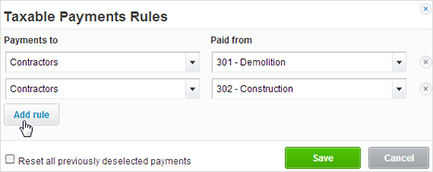 Xero allows filtering of payments by Contact Group and Account code to complete the TPAR report
