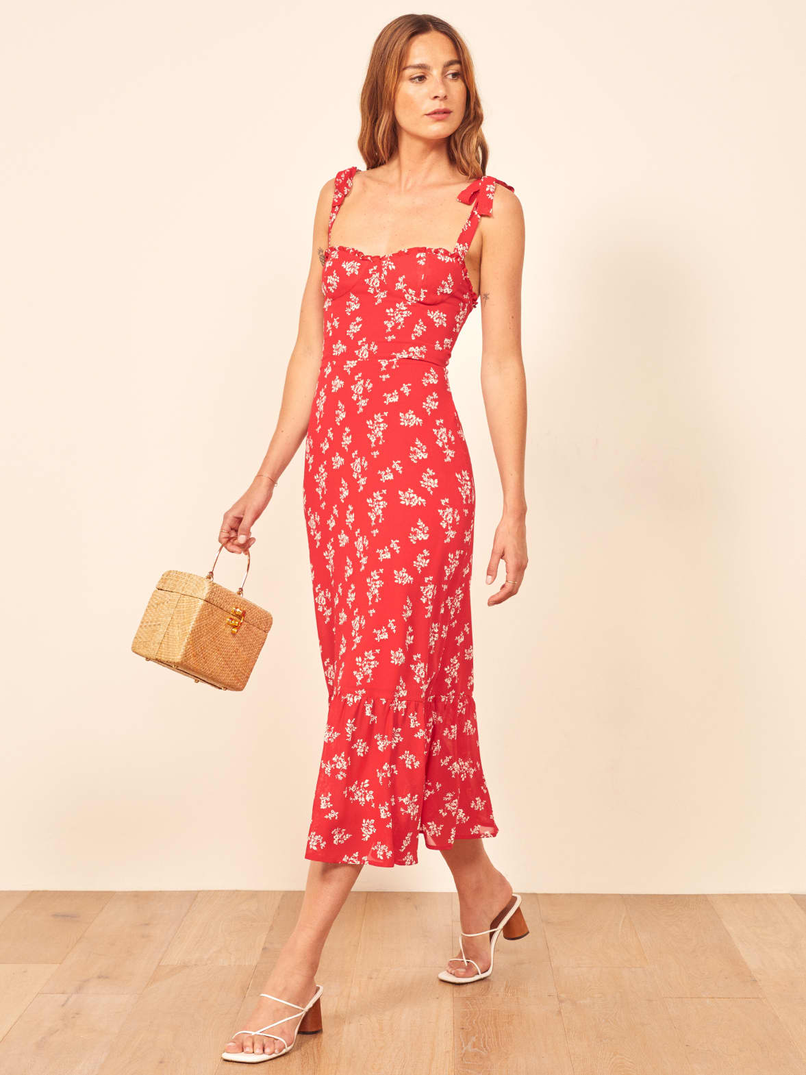 I love this dress and all dresses by Reformation. They are definitely investment pieces and worth it if you have a few wedding coming up!