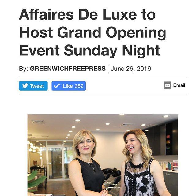 Celebrate with us 🍾🥂😊🎊 Sunday, June 30th, 5-8pm #celebrate #grandopening #affairesdeluxe #houseofbeauty #newbeginning #music #drinksandbites ##giftsandmore #freefun