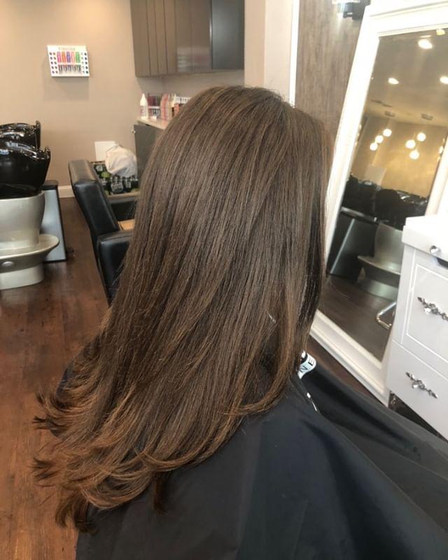 Great Hair, Great day, Great mood😊 #affairesdeluxe #houseofbeauty #haircutmatters #greenwichsalon #greenwichavenue #albanianartist❤️🇦🇱