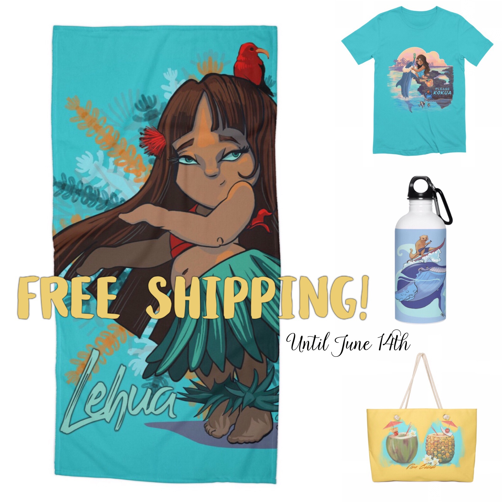 Get ready for Summer with FREE SHIPPING until June 14th!