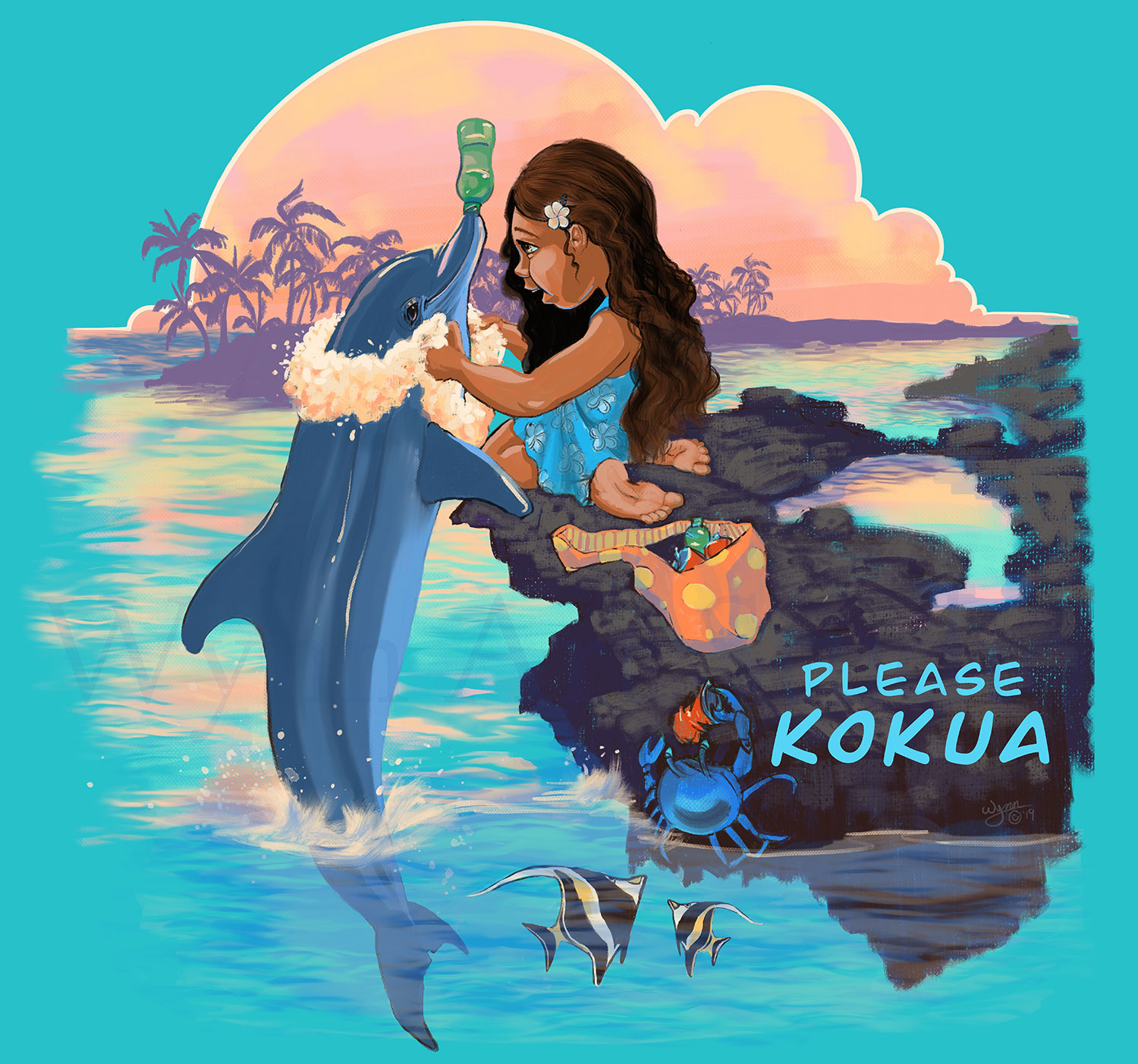 Please Kokua with this Beach Clean-Up Design.  Products available on Threadless.