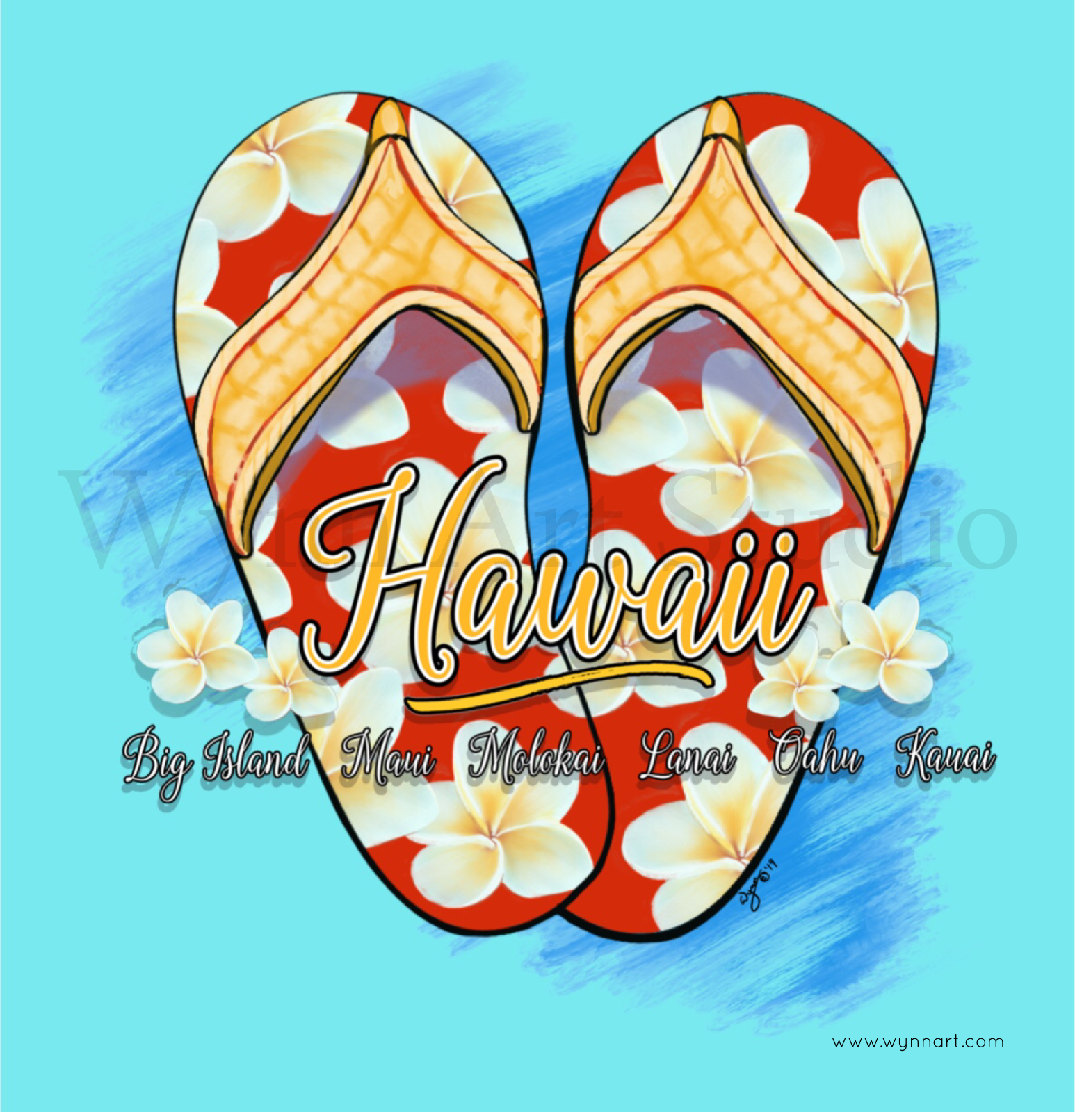 Hawaiian Style Slippers  Now available on Threadless.