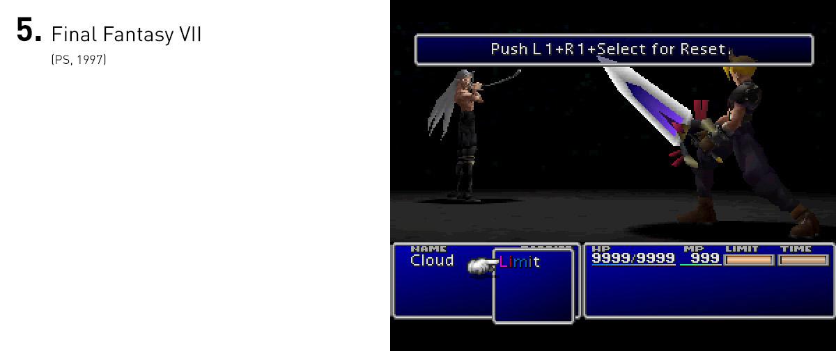 Para toda uma geração, Final Fantasy VII foi a apresentação de como um mundo bem realizado, repleto de mínimos detalhes e com uma história rica poderia aparecer nos videogames. Além disso, o mundo vasto repleto de segredos e a trama cheia de reviravoltas e eventos inesperados determinou para muitos o que um RPG japonês deveria ser.