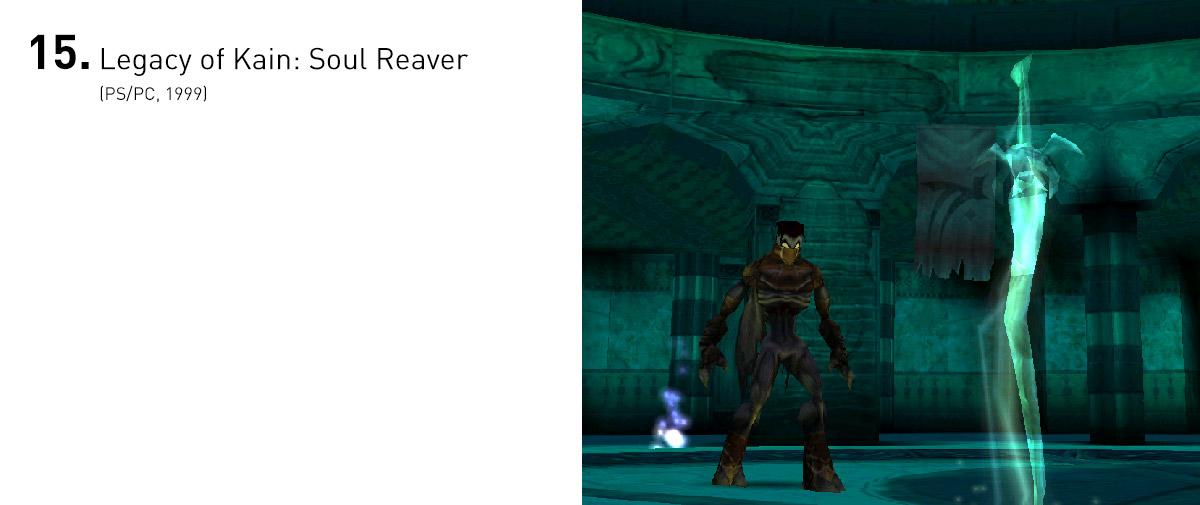 Com uma trama tão interessante quanto suas mecânicas, que abusavam do que havia melhor em Zelda e Tomb Raider, em dois mundos paralelos e interconectados, Soul Reaver foi, disparadamente, o melhor e mais original jogo da série.