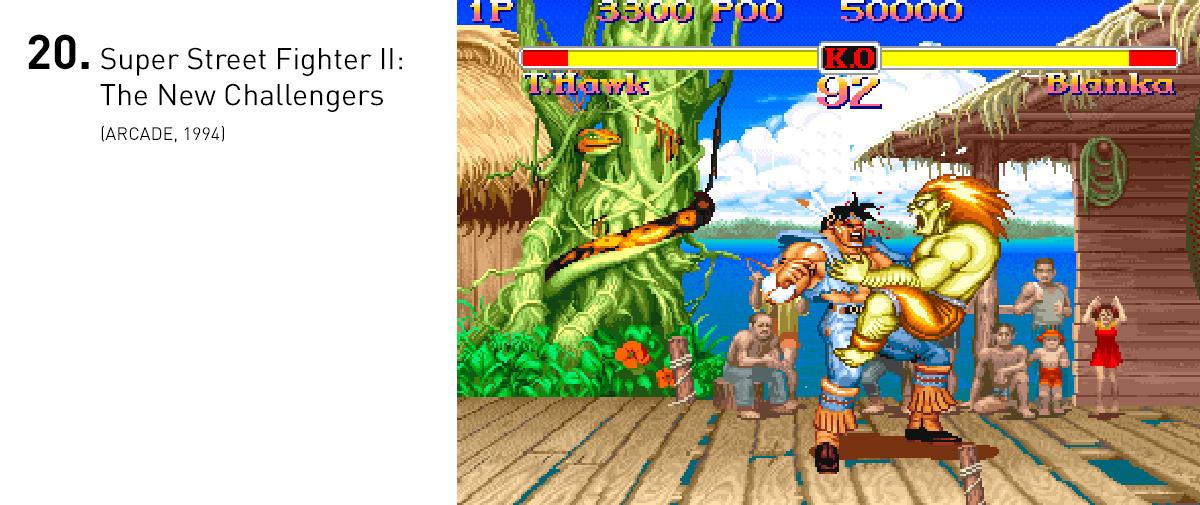 Super Street Fighter II foi a versão definitiva do jogo que estabeleceu o gênero de luta. Além da introdução de personagens inéditos, as mecânicas foram minuciosamente refinadas e novas animações tornavam o jogo ainda mais bonito.