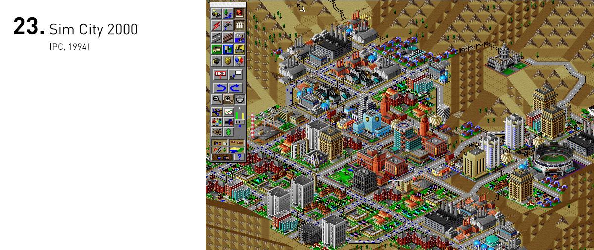 Sim City 2000 foi um dos primeiros grandes exemplos de como algo tão complexo podia ser tão acessível e educativo. Era uma das grandes razões para que muitos pais quisessem comprar um PC para seus filhos (e para eles próprios).