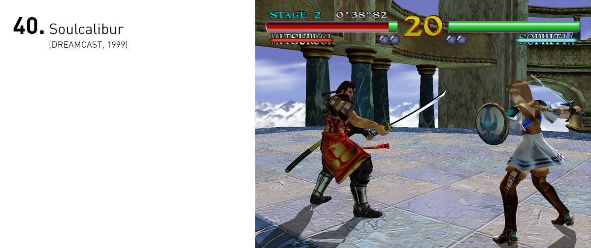 Soulcalibur era a razão para muitas pessoas quererem o Dreamcast. O detalhamento gráfico, as animações fluidas e os controles precisos tornavam os combates belas e ágeis coreografias.