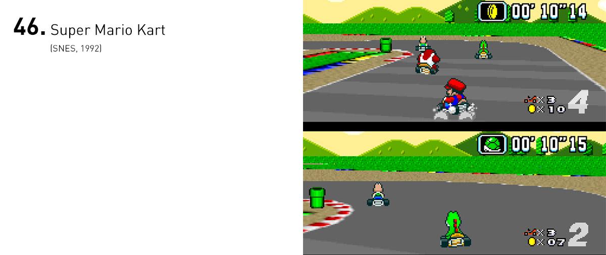 Ao reunir a trupe de Super Mario em corridas com trapaças e atalhos, aumentando a competição com um modo para dois jogadores, a Nintendo inadvertidamente criou um dos subgêneros mais populares dos anos 90.
