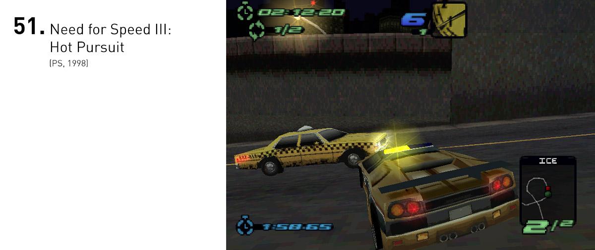 Com a inclusão das viaturas policiais, Hot Pursuit conseguia trazer a diversão de pilotar carros exóticos e ainda sequências de fuga intensas, transformando cada corrida em um interessante caos controlado.