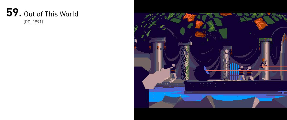 Técnica, estética e narrativamente espantoso para sua época, Out of This World foi uma das primeiras grandes demonstrações da capacidade única e imersiva dos videogames para contar histórias sem uma única linha de diálogo.