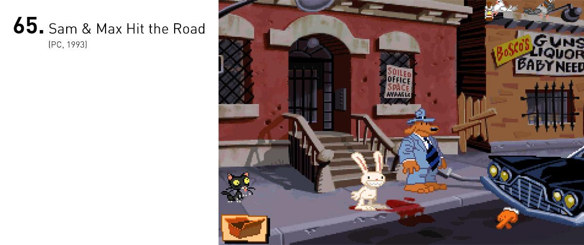 Com paródias inteligentes à cultura norte-americana e animações dignas de desenhos animados para TV (o que, de fato, eles viraram algum tempo depois), Sam e Max se tornaram a dupla de detetives mais adorada dos videogames.
