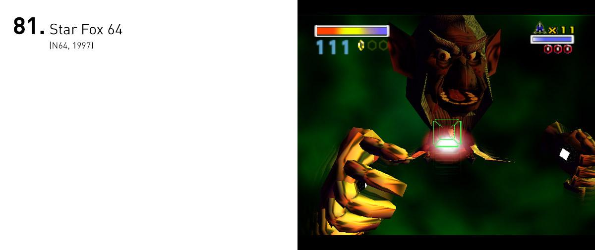 Levando adiante as ideias apresentadas no primeiro jogo da série, Star Fox 64 ganhou profundidade, níveis inteligentes e diversificados e dublagens que acentuavam o drama da ação.