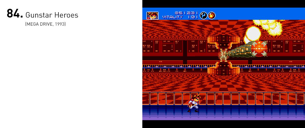 Mais do que abusar do processamento do Mega Drive, Gunstar Heroes trouxe mecânicas criativas e alguns dos melhores confrontos contra chefes da história.