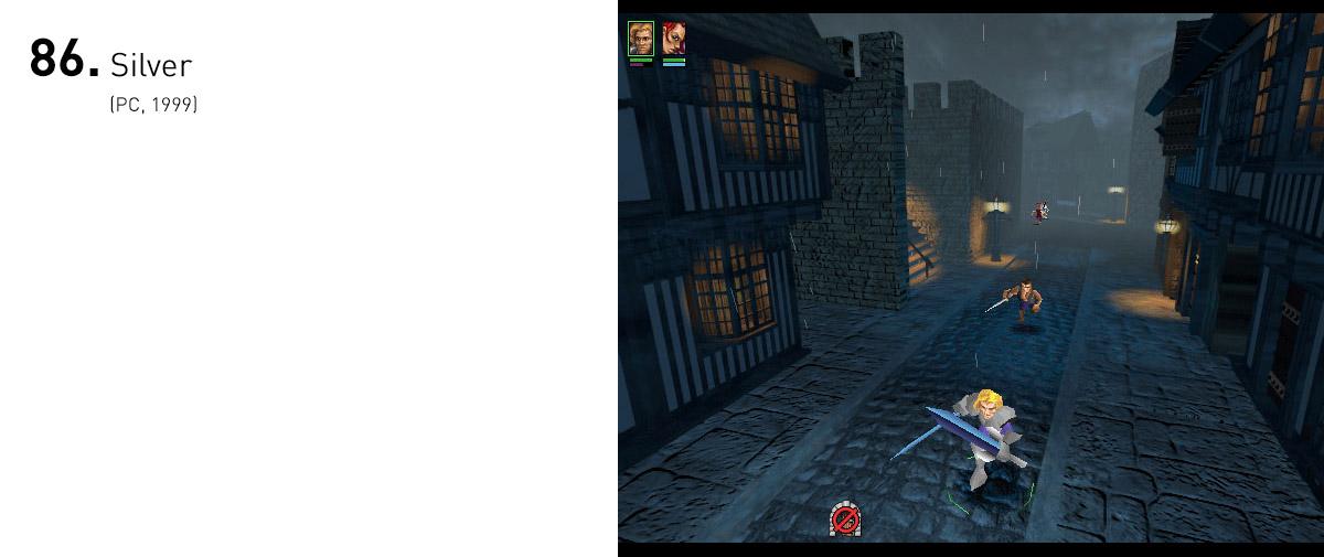 Clássico esquecido do PC do final da década de 90, Silver era um RPG de ação belo e criativo, que se destacava pelo sistema de controles: movimentos rápidos com o mouse eram traduzidos em golpes de espada.