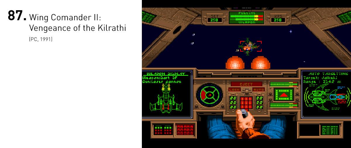 Além de trazer uma complexidade de narrativa que só era vista em adventures, sendo também um dos primeiros exemplos de dublagem em jogos, Wing Commander II trazia uma ação cinematográfica, impressionante para a época.