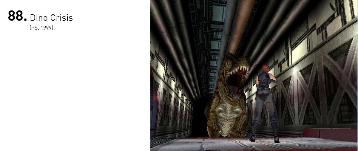 Ninguém imaginava que uma nova roupagem de Resident Evil poderia dar tão certo. Dino Crisis trazia momentos legitimamente desesperadores.