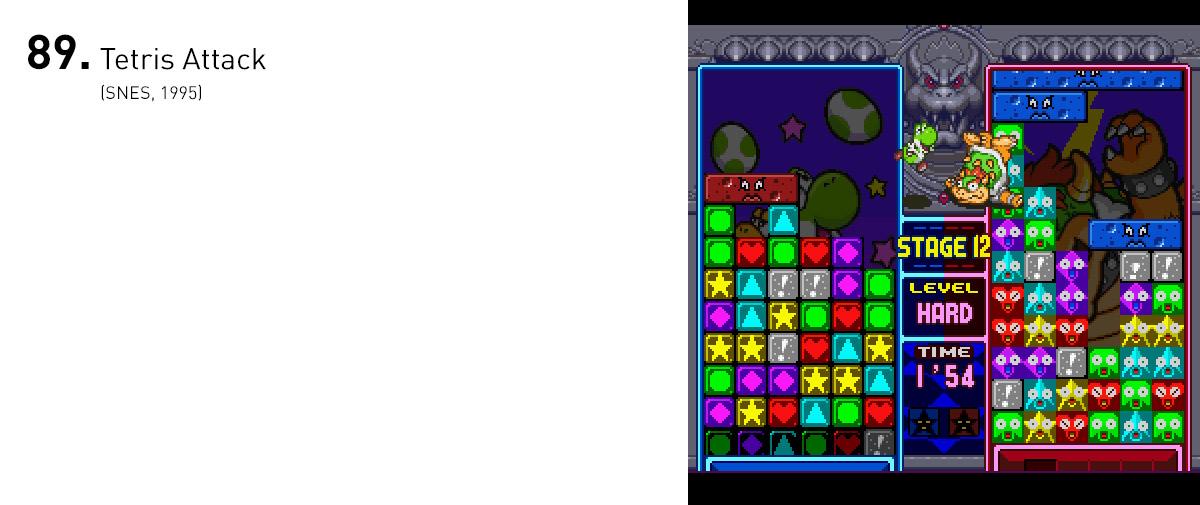Apesar de não ter nenhuma relação com Tetris, o jogo estrelado por Yoshi foi um dos puzzles mais inteligentes, frenéticos e divertidos criado nos anos 90.