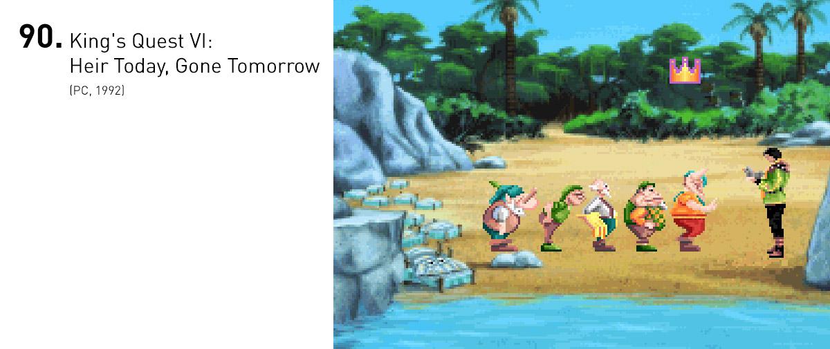 A combinação de melhores animações, excelentes dublagens e um roteiro sofisticado fez de King's Quest VI um dos jogos mais adorados da série.