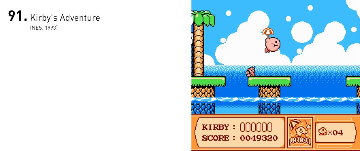 Depois de sua estreia no Game Boy, Kirby ganhou mecânicas ainda mais inventivas em uma aventura adorável para o NES.