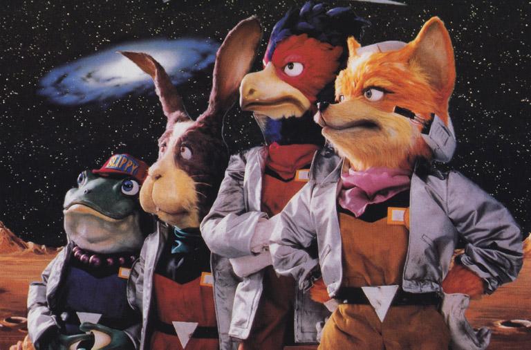Nintendo criou bonecos para ilustrar a caixa e material promocional de Star Fox