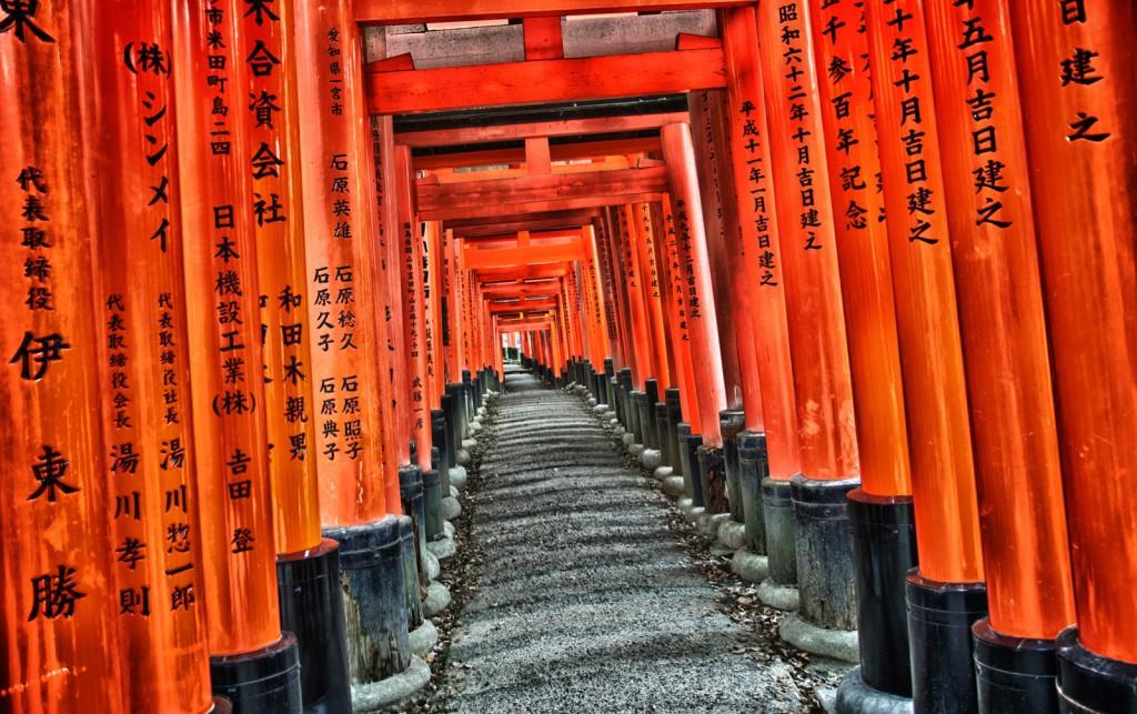 Os portões do templo Fushimi Inari Taisha, em Quioto, ajudaram Miyamoto a pensar em como limitar o espaço em Star Fox (Crédito: Adam Mayfield)