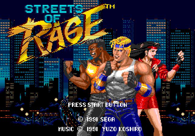 Yuzo Koshiro tinha seu nome estampado na tela principal de Streets of Rage