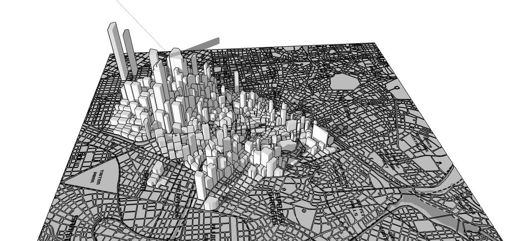 Midio modelou a cidade do jogo em 3D para a equipe estudar seu comportamento