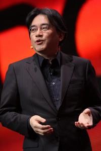 Satoru Iwata, em uma conferência durante a Game Developers Conference, em 2011.
