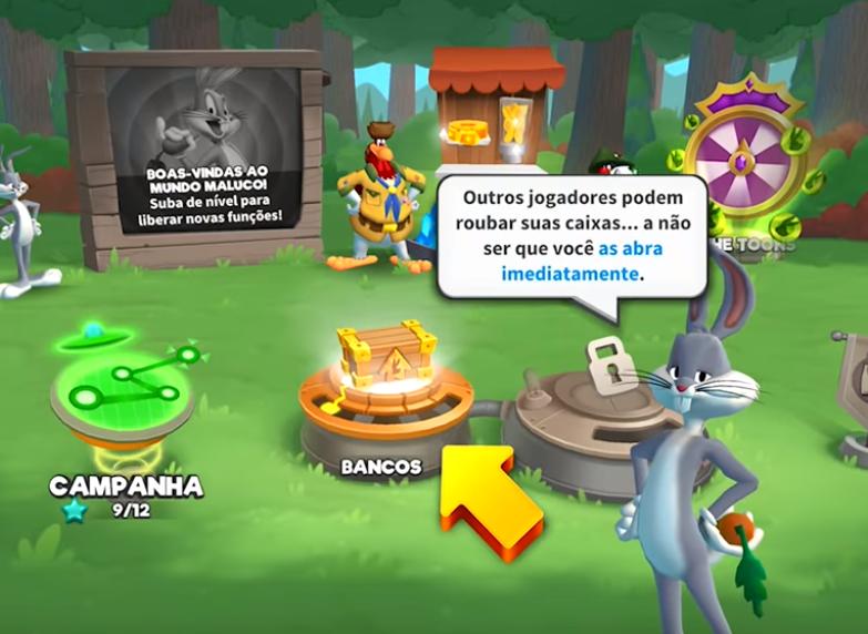 """""""Outros jogadores podem roubar suas caixas… a não ser que você as abra imediatamente."""""""