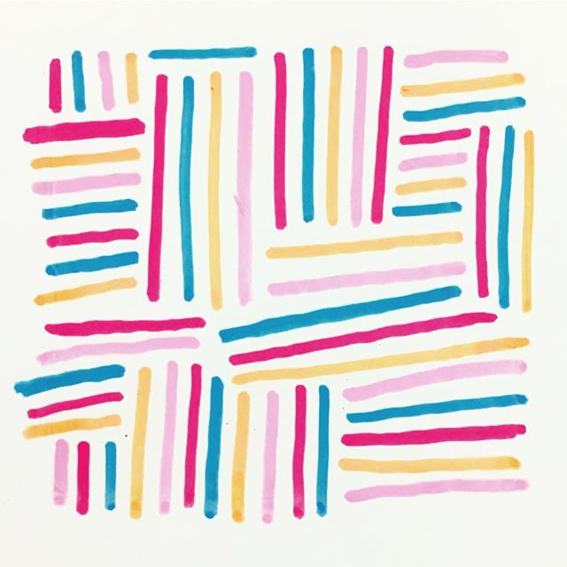 ☀️ Good morning! ☀️ . . . #patterndesign #posca #poscapens #stripes #rainbowstripes #surfacedesign #brightcolors #inmysketchbook #doodleoftheday