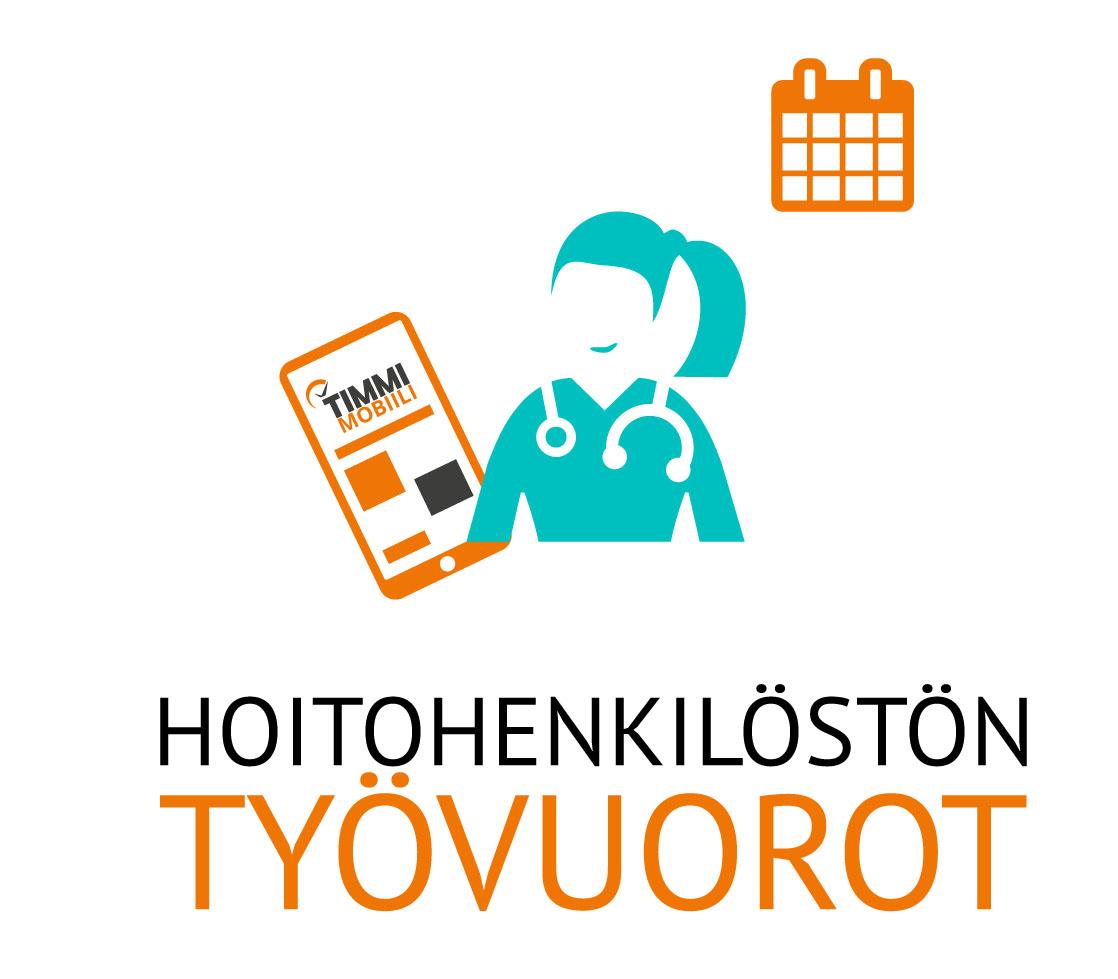 TYÖVUOROJEN HALLINTA - TIMMI Smart Hospitaliin on mahdollista integroida erilaisia työvuorojen suunnittelutyökaluja. Jos asiakkaalla ollaan tyytyväisiä nykyisiin työkaluihin, niin niitä ei tarvitse vaihtaa TIMMI Smart Hospitalin käyttöönoton yhteydessä.