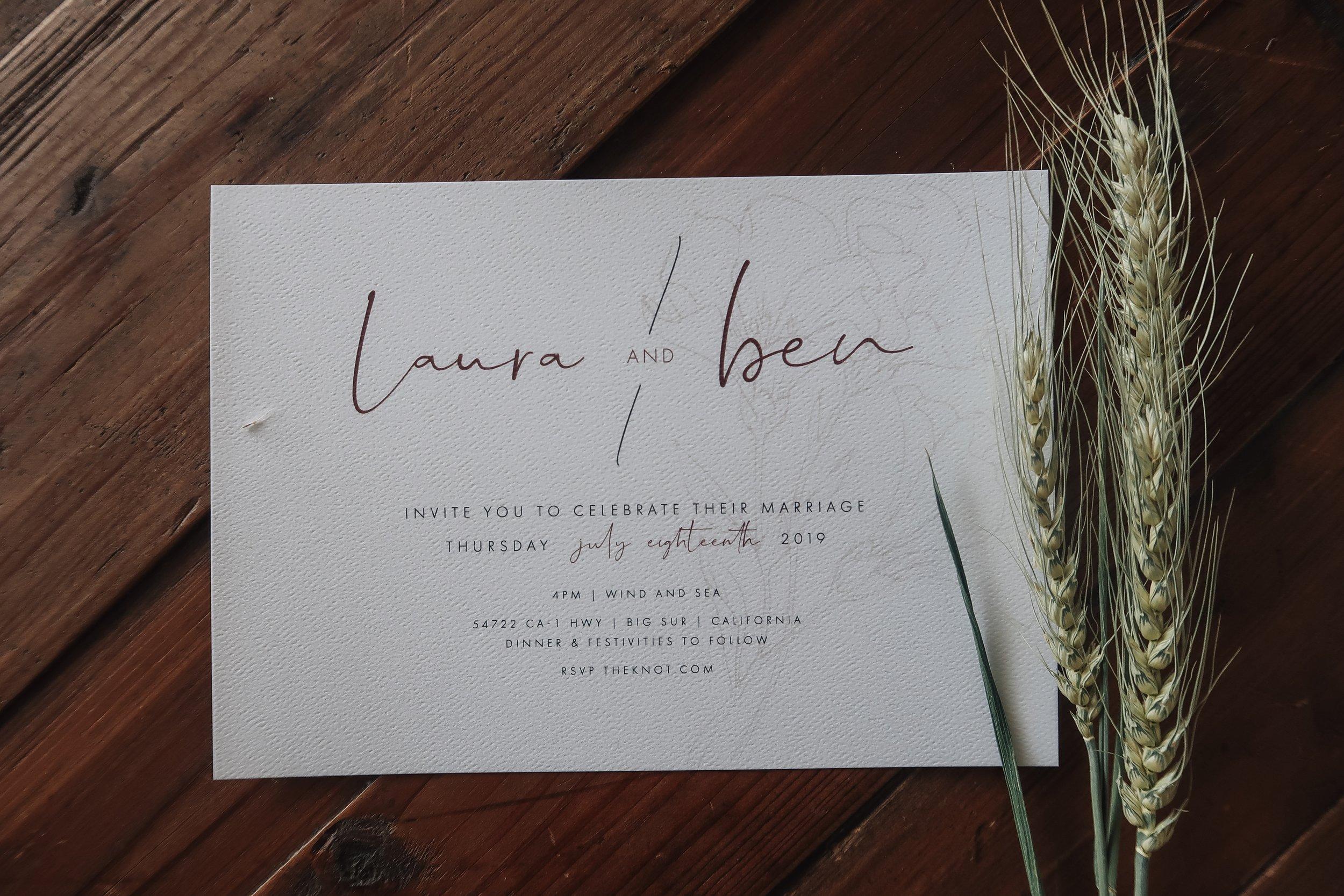 Laura & Ben Invitation