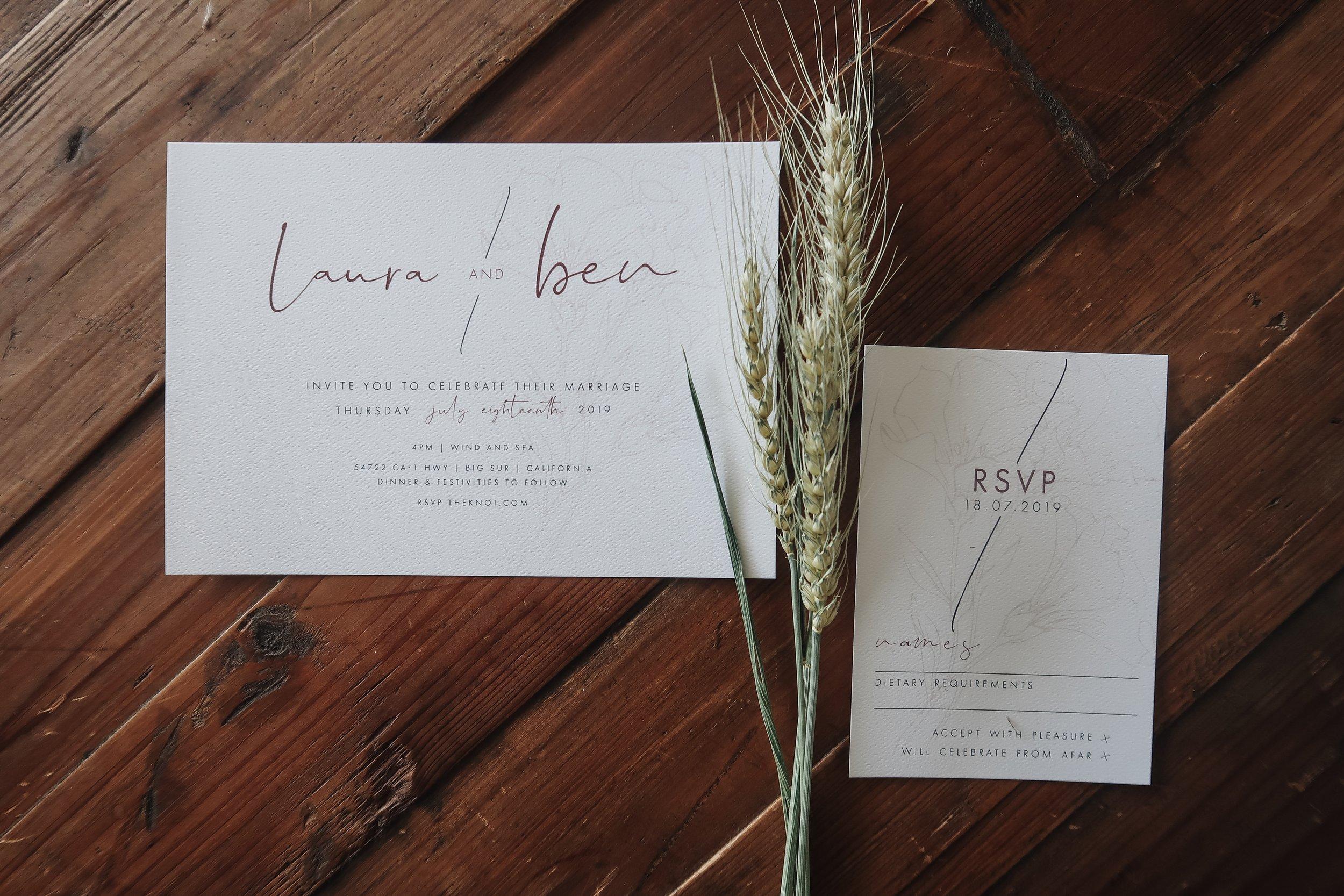 Laura and Ben Invitation + RSVP