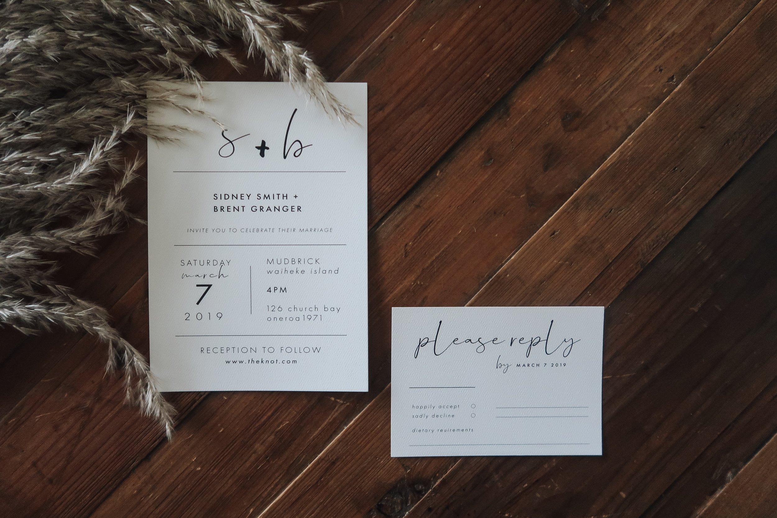 Meadow Invitation + RSVP