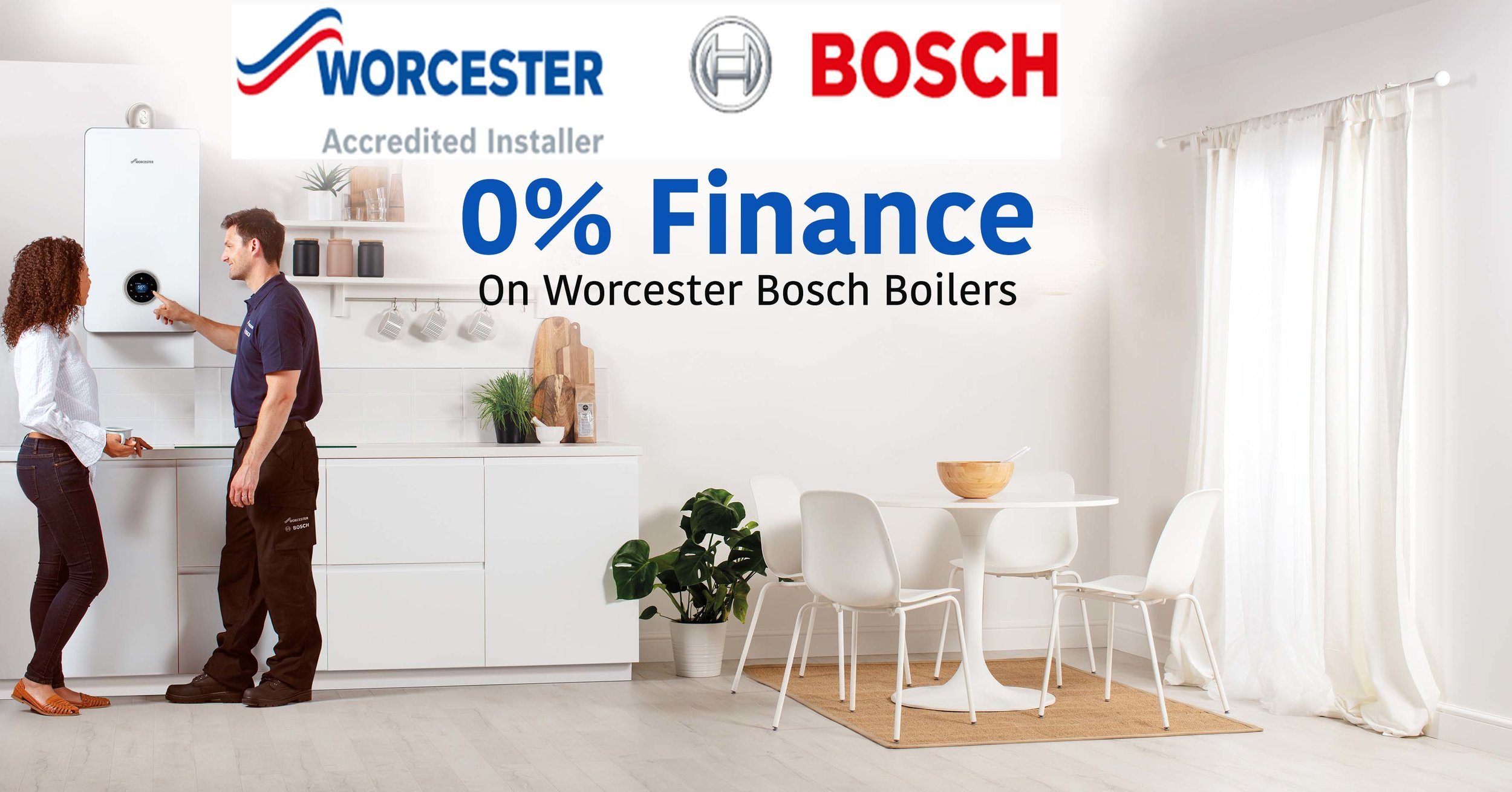 - As Worcester Bosch Accredited Installers, we will give you a 10 year guarantee on your new boiler, and carry out your first year's service for free.