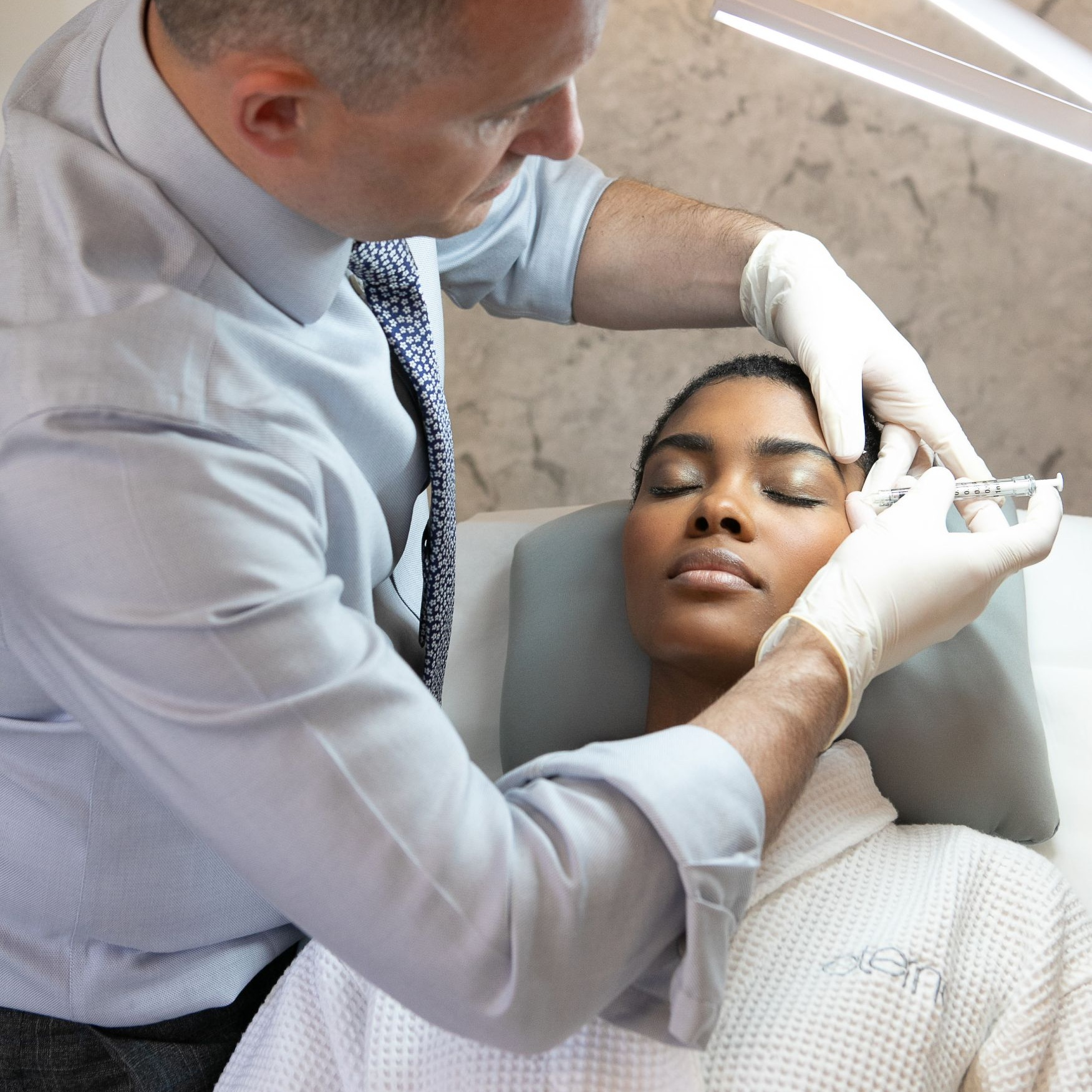WRINKLE-FREE botox™ - Purified protein injections that produce temporary muscle relaxation, improving the appearance of lines and wrinkles for more youthful radiance.